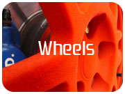 Flocked OZ Wheels in orange
