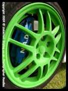 Flocked Oz Wheels in green